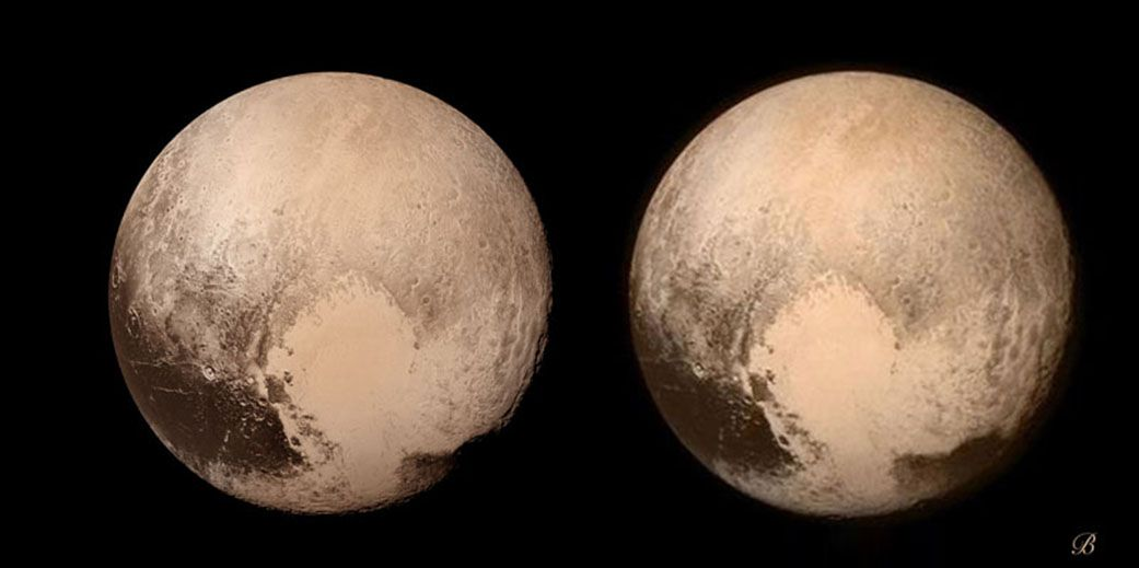 Stereoscopic Image of Pluto