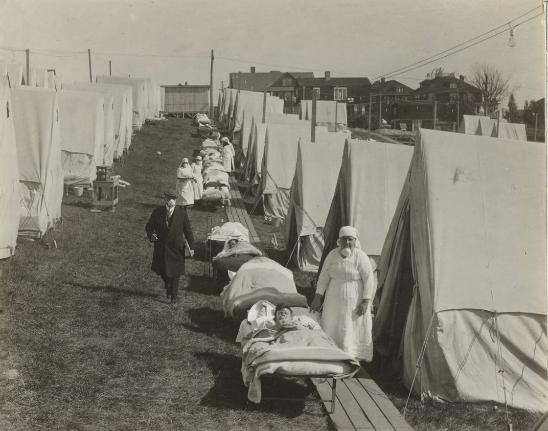 nurses and young men in gurneys