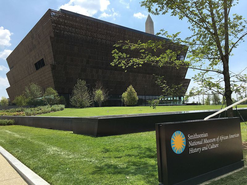 Exterior of the Smithsonian National Museum of African American History and Culture