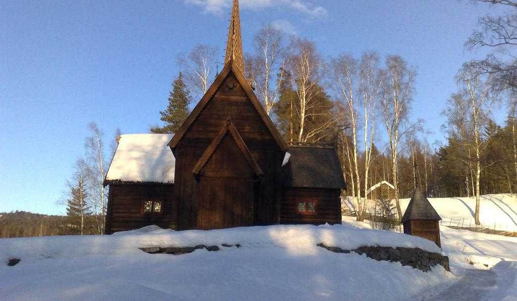 Stavkirke at Maihaugen in Lillehammer