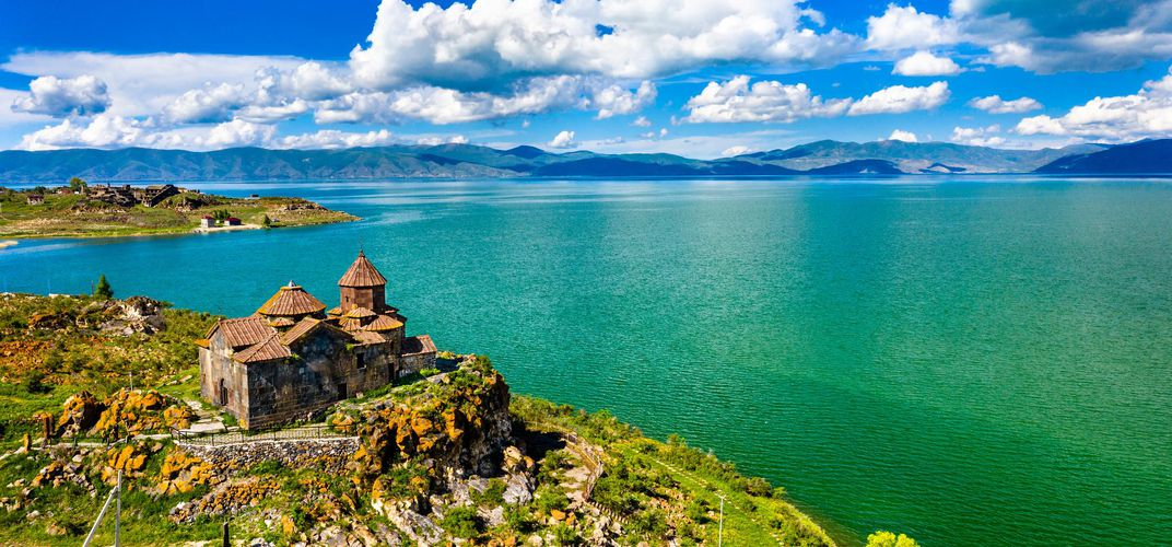 Hayarvank Monastery along Lake Sevan, Armenia