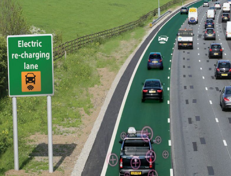 A Mock Up Of An Electric Road Highways England