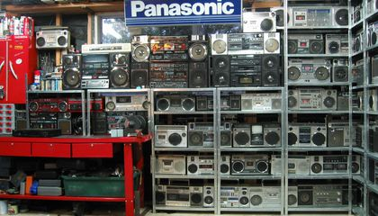 For Sale: 400 Awesome Vintage Boomboxes