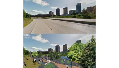 An Ohio City is Turning an Unused Highway Into a Pop-Up Forest