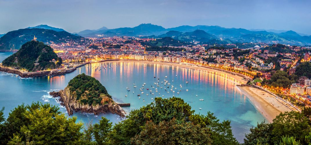 Dusk in beautiful San Sebastian