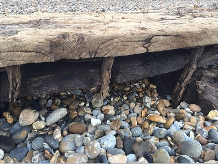 The Thorpeness vessel is held together with wooden treenails