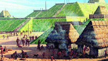 Cahokia Mounds Illustration