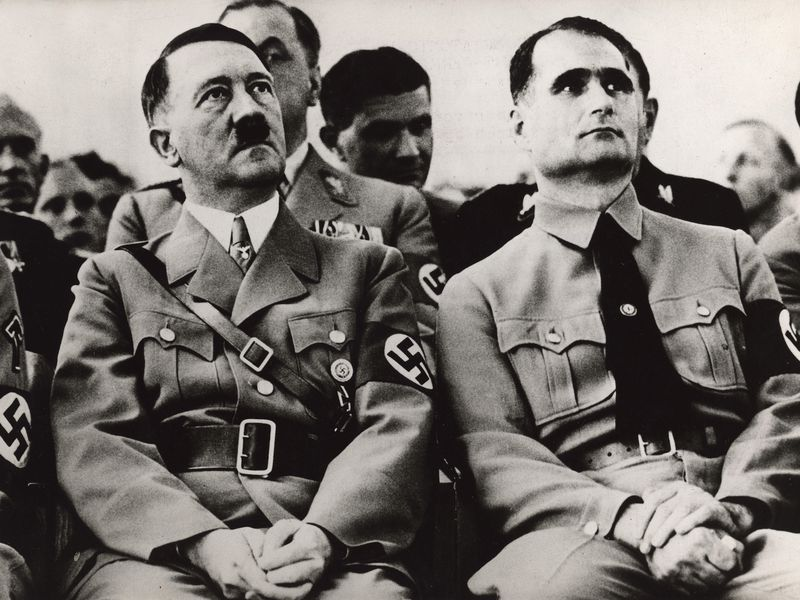 Adolf Hitler and his deputy Rudolf Hess