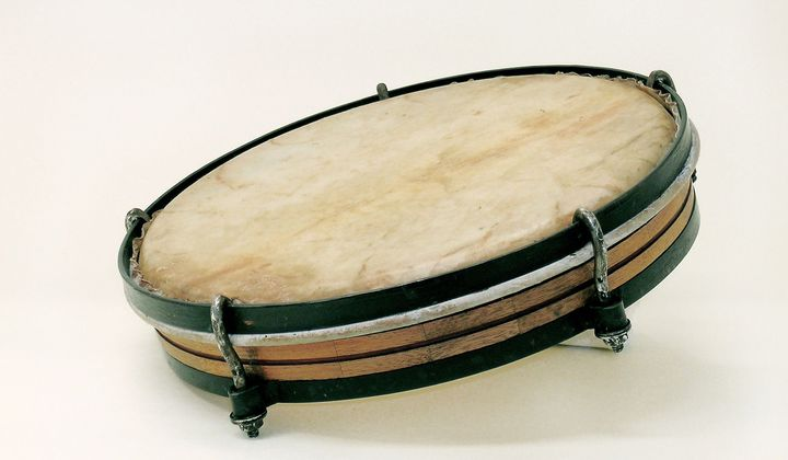 Pandereta (Plena Drum), Puerto Rico, 20th Century  Division of Home and Community Life, National Museum of American History, Kenneth E. Behring Center, Gift of Teodoro Vidal