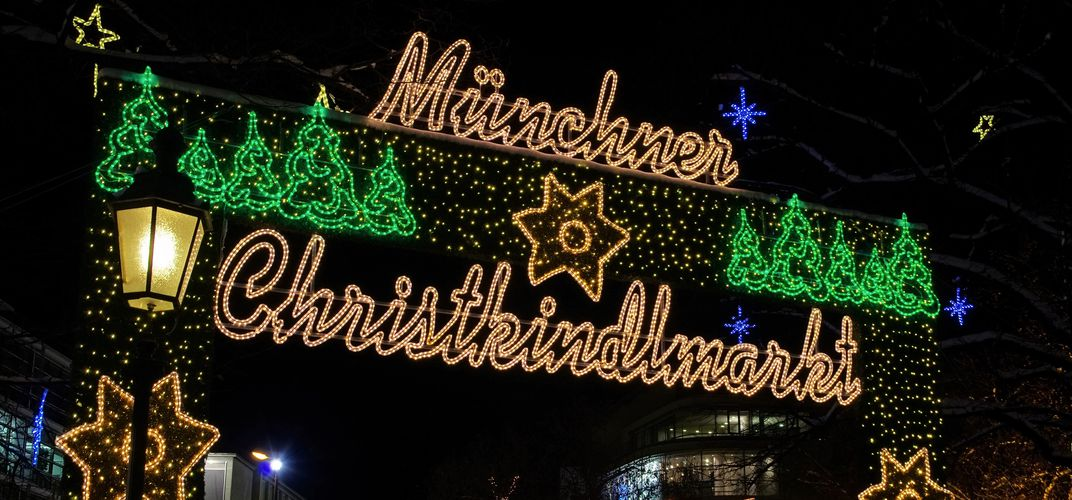 Munich holiday market entrance