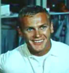 Tab Hunter from the trailer for the film Damn Yankees