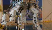 "ESA's ""Eurobot"" goes for a dip."