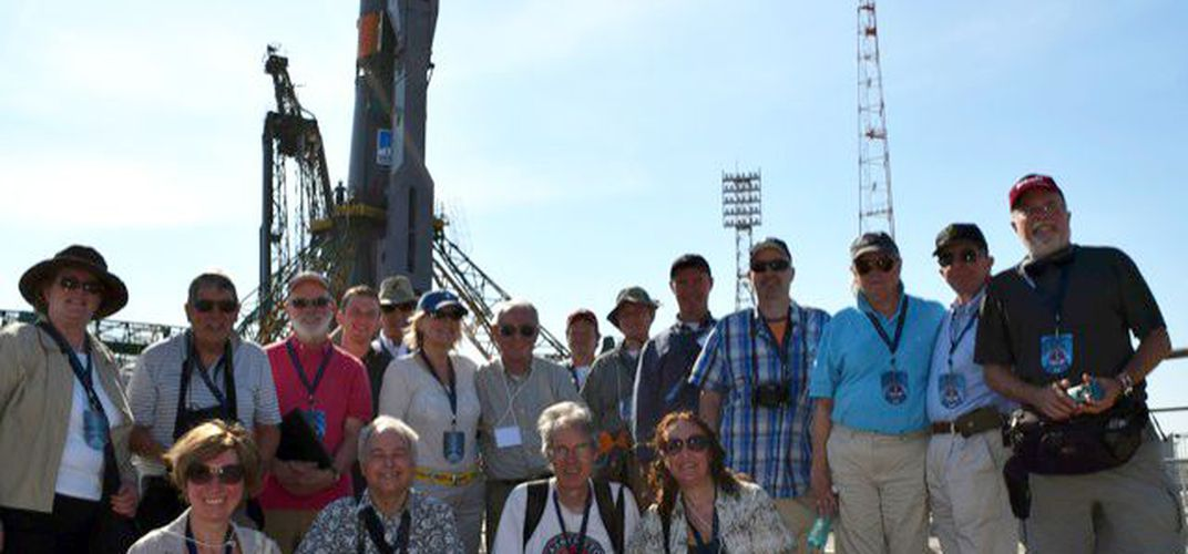 Smithsonian Journeys travelers at launch site