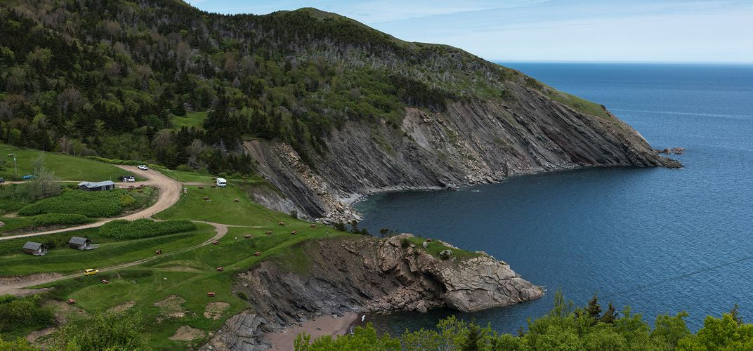 View to the north west from above Meat Cove, Nova Scotia