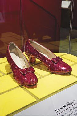0bd6a7326fc4 Dorothy s ruby red slippers from The Wizard of Oz are back on display at  the National Museum of American History. (National Museum of American  History)
