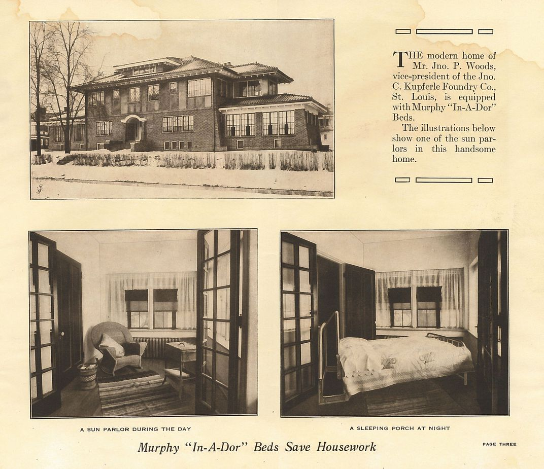 Curator Finds Murphy Beds Place In American History At The