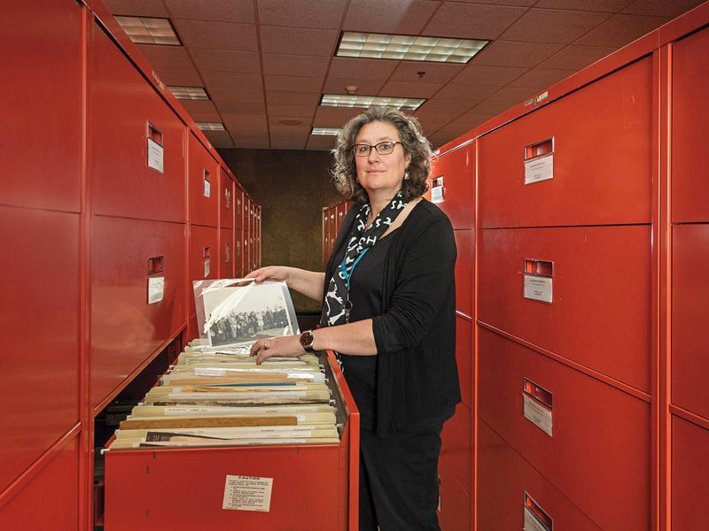Archivist Patti Williams