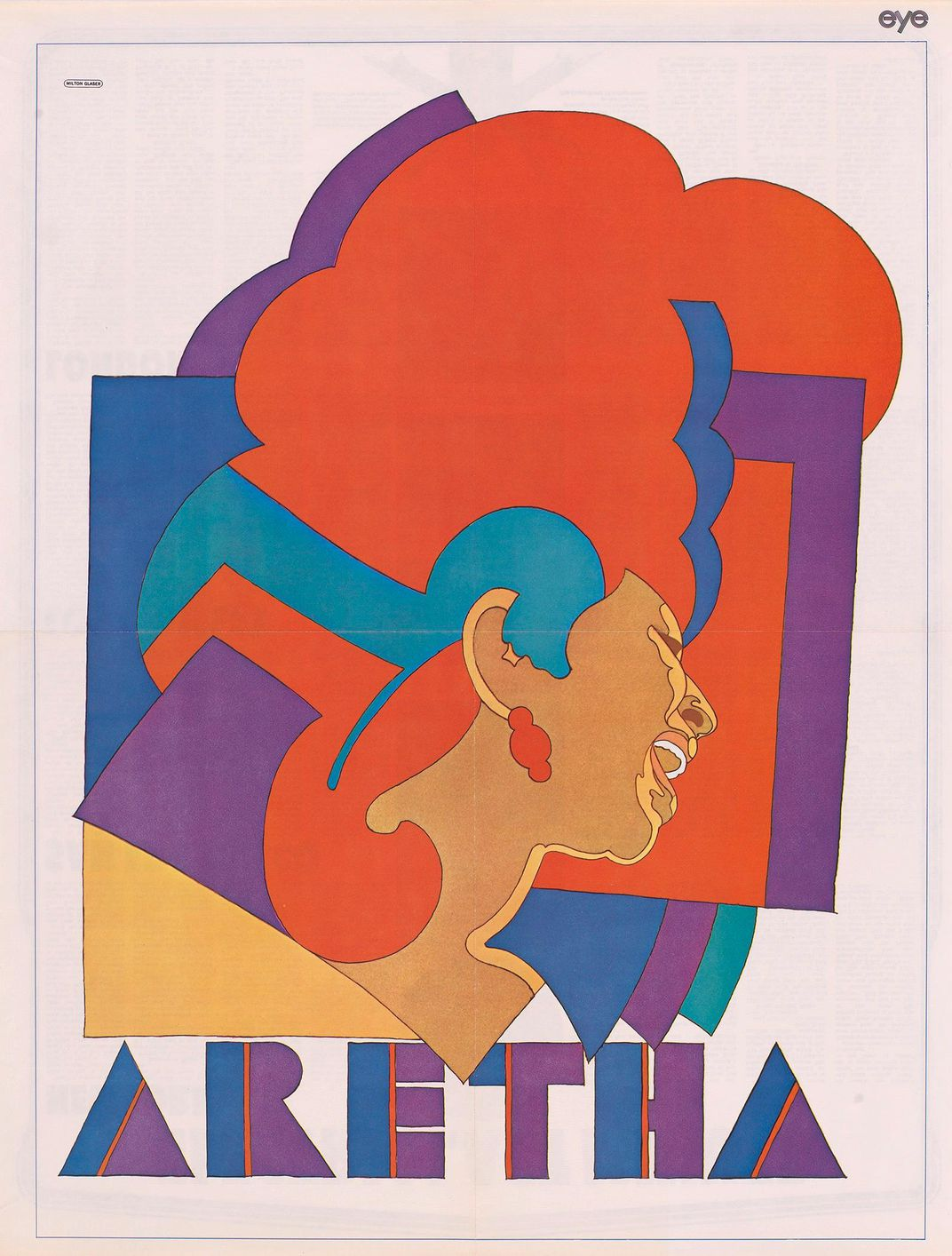 Aretha Franklin by Milton Glaser
