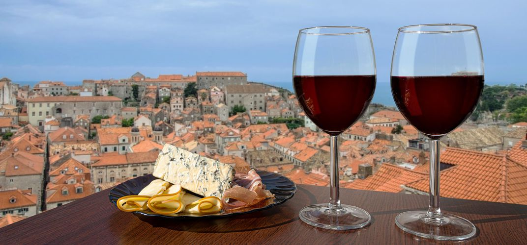 Wine and rooftops, Croatia