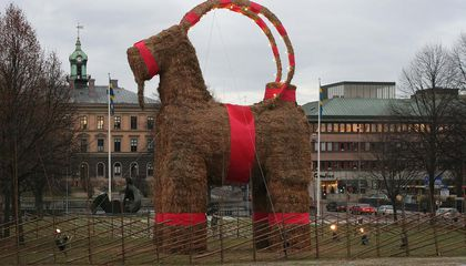 For 50 Years, This Swedish City Has Celebrated Christmas Season With a Giant Straw Goat