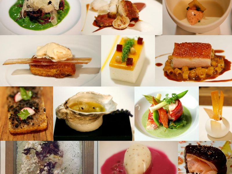 Dishes made by Michelin star restaurants