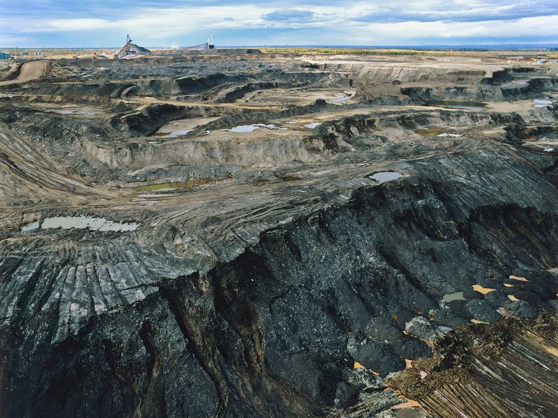 A tar sands mine in Alberta