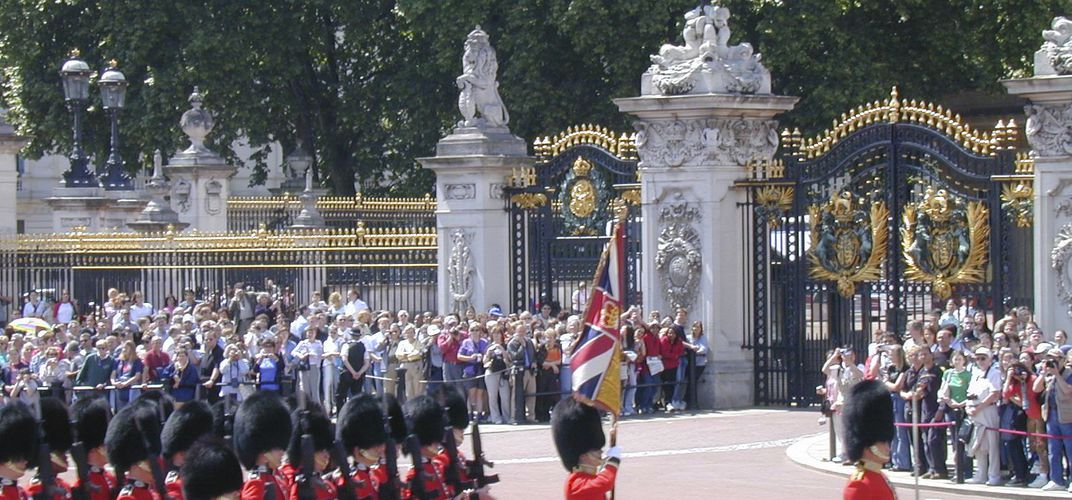 The gates of Buckingham Palace, London