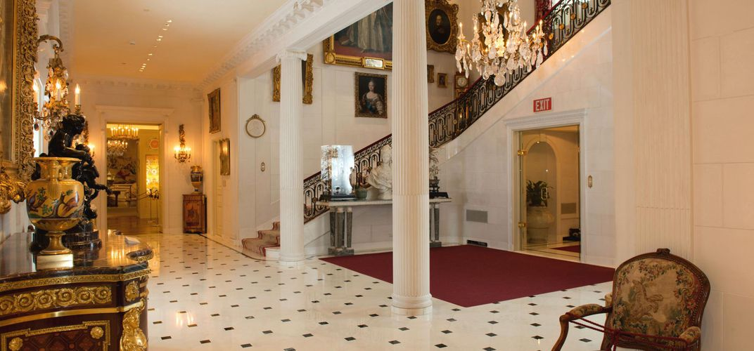 Entry hallway at Hillwood Estate, Museum and Gardens. Credit: John Dean