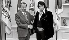 Richard Nixon and Elvis Presley
