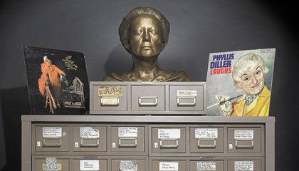 Comic Phyllis Diller's Cabinet Keeps the Jokes Coming