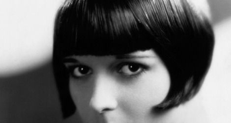 Actress Louise Brooks with bob and bee-stung lips, 1920s