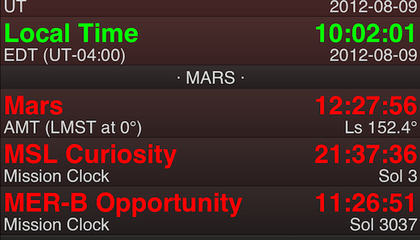 How Do You Tell Time on Mars? There's an App for That