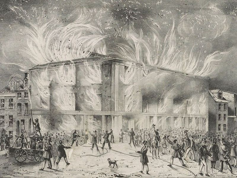 Fire at Philadelphia's Abolition Society