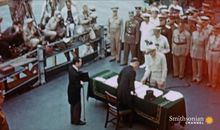 Footage of the Moment the Japanese Surrendered