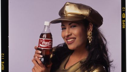 Photograph for a Coca-Cola ad featuring Selena, 1994. Photo by Al Rendon. (NMAH)