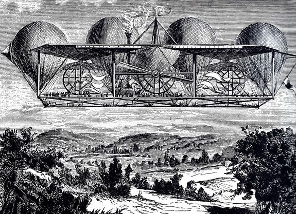 The Aerial Ship of Monsier Petin (circa 1850)