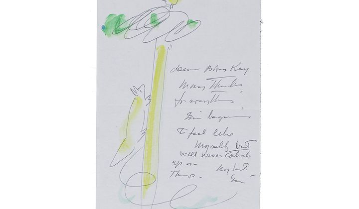 Miné Okubo letter to Kay Sekimachi and Bob Stocksdale, ca. 1980. Bob Stocksdale and Kay Sekimachi papers, 1937-2014. Archives of American Art, Smithsonian Institution.