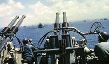 Gun crew on the USS West Virginia