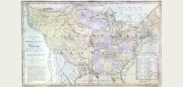 Map Of Louisiana Territory.How The Louisiana Purchase Changed The World History Smithsonian