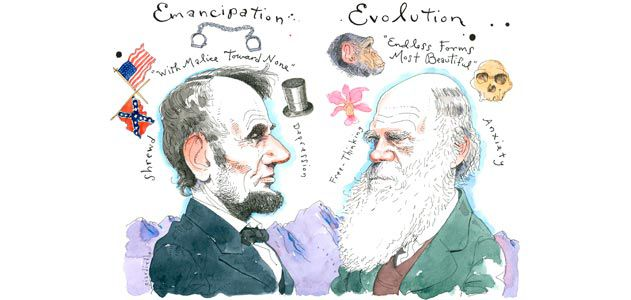 Abraham Lincoln and Charles Darwin