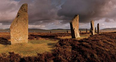 Ring of Brodgar is on the Orkney Islands