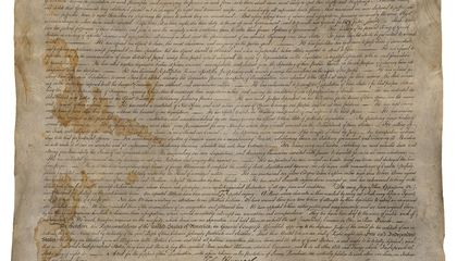 Copy of Declaration of Independence, Hidden Behind Wall Paper During the Civil War, Resurfaces in Texas