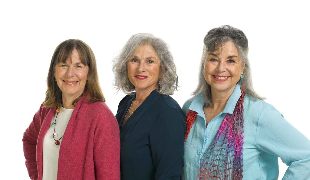 Frustrated by the bras on the market, the three co-inventors of the sports bra (from left: Polly Smith, Hinda Miller and Lisa Lindahl) made a prototype using a pair of men's jock straps.