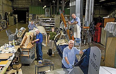 An all-volunteer crew works on the Museums Junior