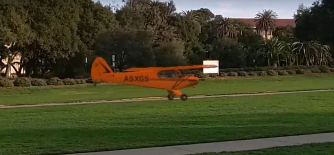 Caption: Watch a Simulated Airplane Fly in the Real World