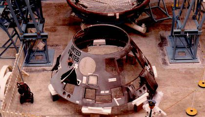 Charred Apollo 1 spacecraft