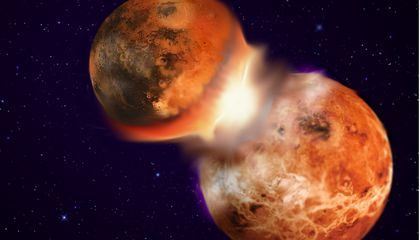 The Moon Was Formed in a Smashup Between Earth and a Near Twin
