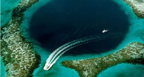 The Great Blue Hole of Belize was named by Jacques Cousteau as one of the world's top diving sites.