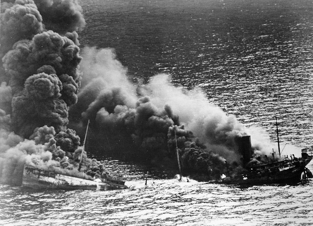 Allied tanker torpedoed by U-boat