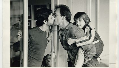 The Story Behind the Iconic Photo of Gay Dads Kissing
